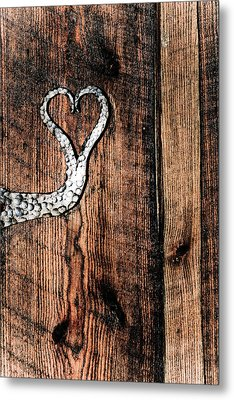 Metal Print featuring the photograph Crafted Heart by Michelle Joseph-Long