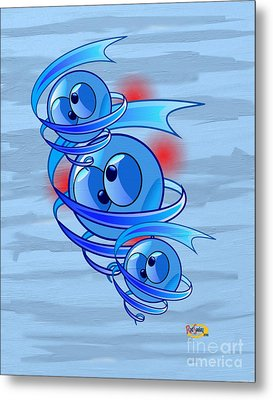 Crazy Blue Eyes Metal Print by Rod Seeley