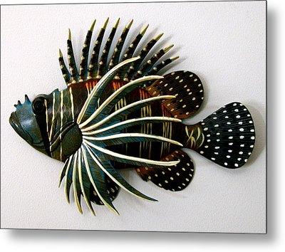 Crazy Fish Metal Print