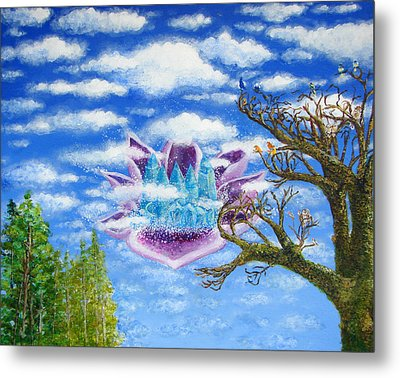 Crystal Hermitage Castle In The Clouds Metal Print by Ashleigh Dyan Bayer