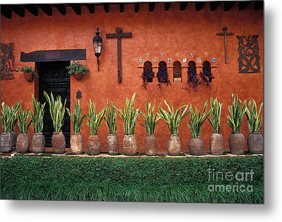 Metal Print featuring the photograph Cuernavaca Wall Mexico by John  Mitchell