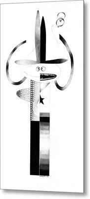 Cycloptic Identity Crisis  Metal Print by Tony Paine