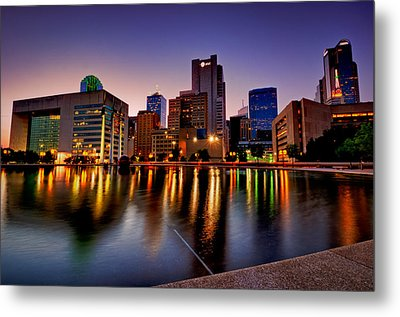 Metal Print featuring the photograph Dallas City Hall Plaza by John Maffei
