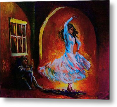 Dancing In The Square Metal Print by Jerry Frech