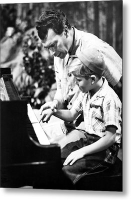 Dave Brubeck And Teaching His Son Metal Print by Everett