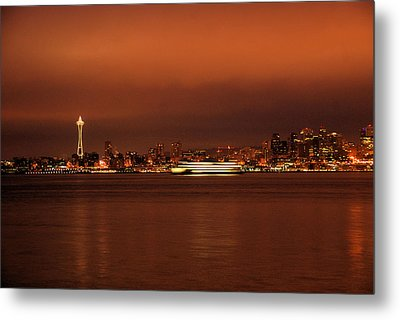 Daybreak Ferry Metal Print