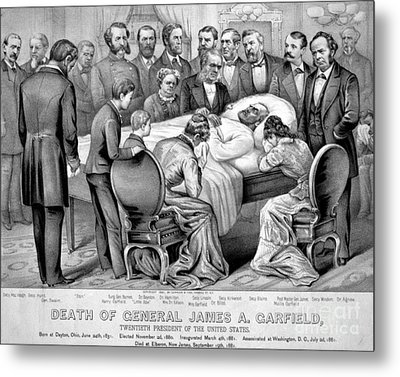 Death Of Garfield, 1881 Metal Print by Photo Researchers