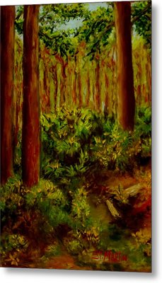 Deep In The Pines Metal Print by Annie St Martin