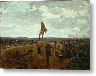 Defiance - Inviting A Shot Before Petersburg Metal Print by Winslow Homer