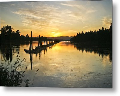 Metal Print featuring the photograph Delta Sunset by Albert Seger