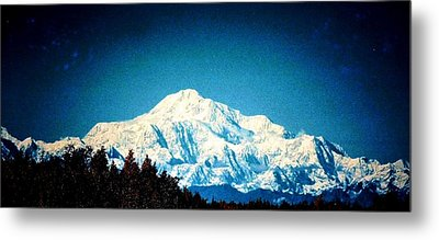 Denali In The Fall Metal Print