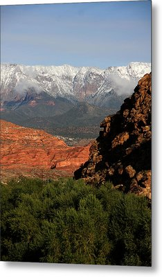 Metal Print featuring the photograph Desert Foothills II by Marta Alfred