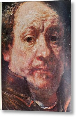 Detail From Portrait Of The Artist Rembrandt Canady Portfolio 9 Metal Print by Jake Hartz