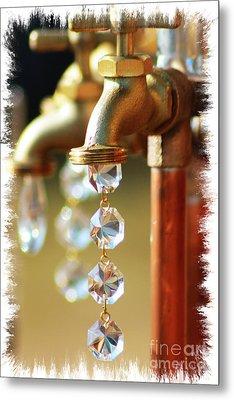 Diamond Drops Metal Print by Lori Mellen-Pagliaro