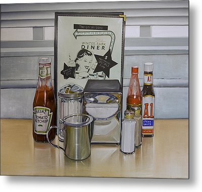 Diner Table Metal Print