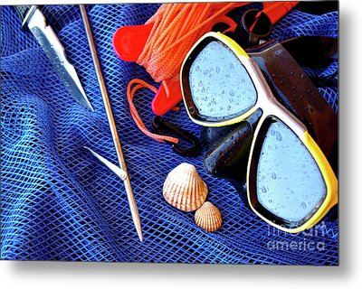 Dive Gear Metal Print by Carlos Caetano