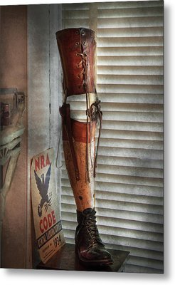 Doctor - A Leg Up In The Competition Metal Print by Mike Savad