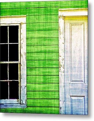Door And Window Metal Print by Nancie Rowan
