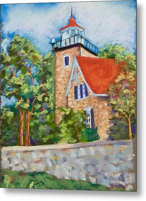 Door County Lighthouse Metal Print by Pat Olson
