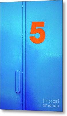 Door Five Metal Print by Carlos Caetano