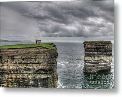 Downpatrick Head Lookout Tower Metal Print