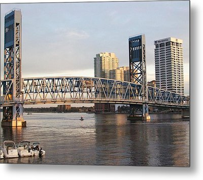 Downtown Jacksonville Metal Print by Tiffney Heaning
