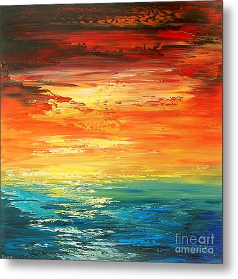 Metal Print featuring the painting Dramatic Deluge by Tatiana Iliina