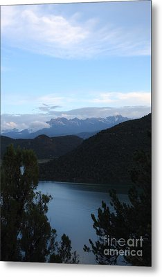 Metal Print featuring the photograph Dusk At Ridgway Reservoir by Marta Alfred