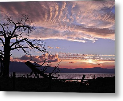 Metal Print featuring the photograph Dusk Over Lake Tahoe by Kirsten Giving