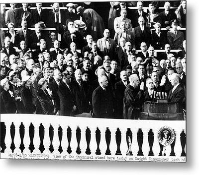 Dwight Eisenhower First Inauguration Metal Print by Everett
