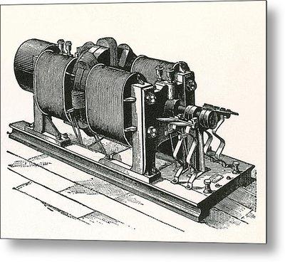 Dynamo Electric Machine Metal Print by Science Source