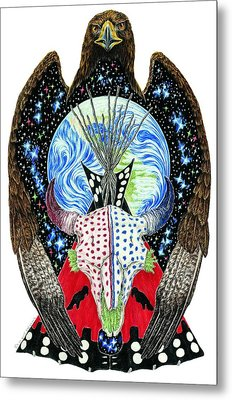 Eagle Tipi Metal Print by Tim McCarthy