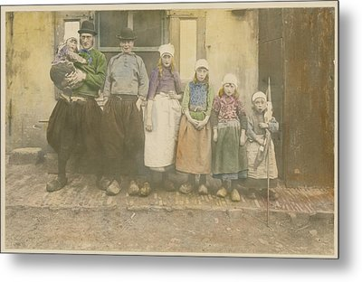 Early 20th-century Portrait Of A Dutch Metal Print by George King