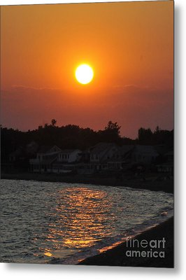 Metal Print featuring the photograph Early Evening Sunset by Cindy Lee Longhini