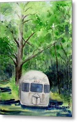 Metal Print featuring the painting Early Summer At The Geddes Farm 1 --ann Arbor  Michigan by Yoshiko Mishina