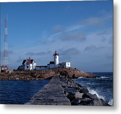 Metal Print featuring the photograph Eastern Point Light by Mike Martin