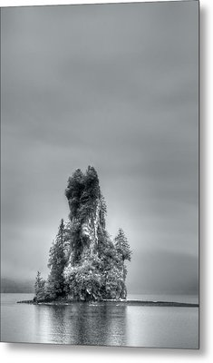 Eddystone Rock Misty Fjords National Monument Alaska Metal Print by Julie VanDore
