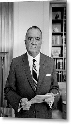 Edgar J. Hoover Director Of The Fbi Metal Print by Everett