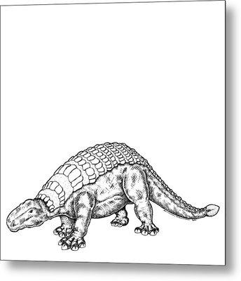 Edmontonia - Dinosaur Metal Print by Karl Addison
