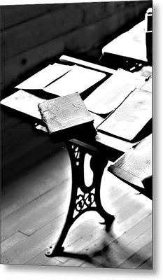 Education Station Metal Print by Empty Wall