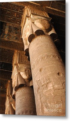 Egypt Temple Of Dendara Metal Print by Bob Christopher