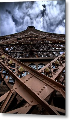 Eiffel In Perspective  Metal Print by Edward Myers