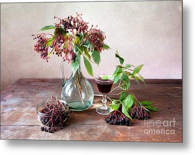Elderberries 02 Metal Print by Nailia Schwarz