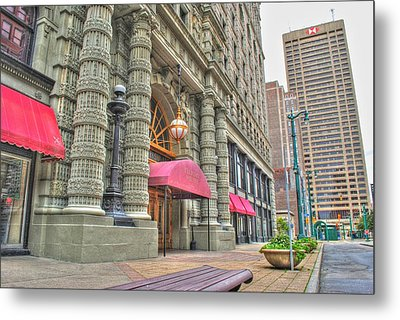 Metal Print featuring the photograph Ellicott Square Building And Hsbc by Michael Frank Jr