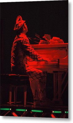 Elton In The Red Metal Print by Scott Smith