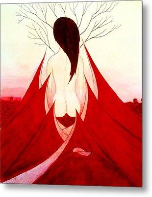Enchantress Red Metal Print by Fariz Kovalchuk
