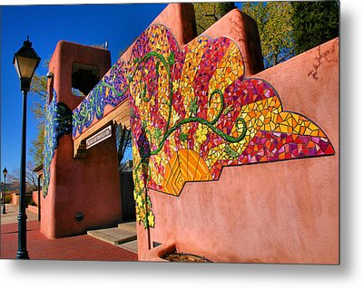 Entrance To Old Town Plaza I Metal Print by Steven Ainsworth
