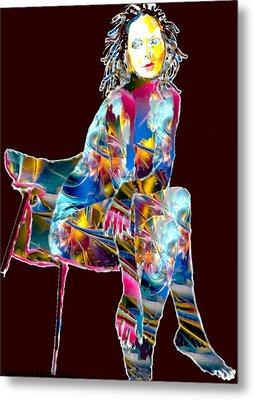 Ethereal Beauty Metal Print by Romy Galicia