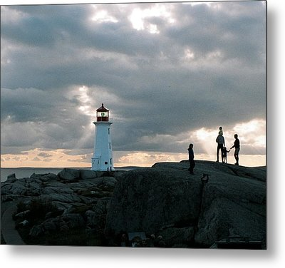 Evening At Peggy's Cove Metal Print by John G Schickler