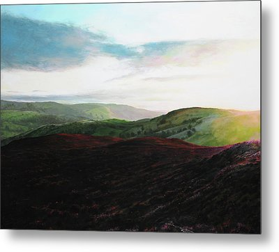 Evening Landscape Towards Llangollen Metal Print